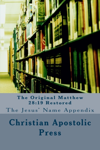 The Original Matthew 28:19 Restored Book Cover